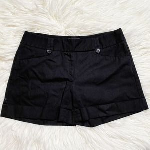 The Limited Drew Fit Black Shorts Cuffed